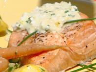 Alder-Planked Salmon with Egg Sauce