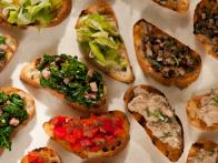 Mixed Crostini Misti has Variety of Fresh Toppings