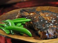 Cajun Blackened Steak with Sugar Snap Peas