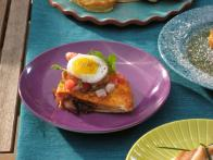 Crispy Bacon and Hash Brown Quesadillas with Fried Quail Eggs