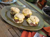 Country Ham and Fried Egg on Angel Biscuits