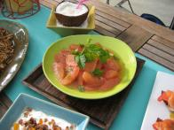 Grapefruit Salad with Honey-Mint Dressing