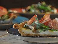 Goat Cheese Quiche with Prosciutto