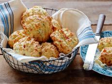 Cooking Channel serves up this Bacon, Cheddar and Chive Biscuits recipe from Kelsey Nixon plus many other recipes at CookingChannelTV.com