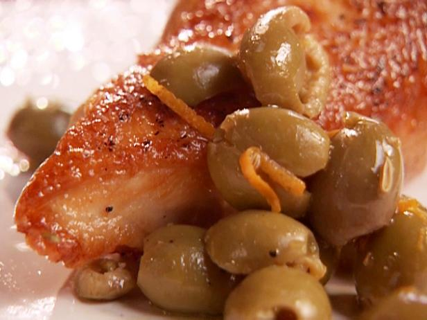 Chicken Breasts with Orange-Fennel Seed-Olive Relish