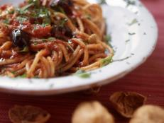 Cooking Channel serves up this Nonna Maria's Spaghetti alla Puttanesca recipe from David Rocco plus many other recipes at CookingChannelTV.com