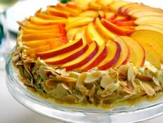 Cooking Channel serves up this Almond Meringue Cake with Peaches recipe from Laura Calder plus many other recipes at CookingChannelTV.com