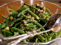 green beans in hazelnuts and creme fraîche