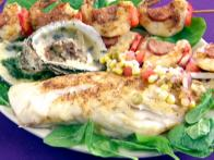 Grilled Grouper Fillets with Creole Salsa