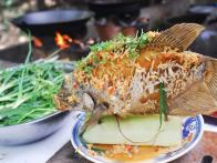 Crispy Fried Elephant Fish with Ginger Fish Sauce: CA Tai Tuong Chien Xu
