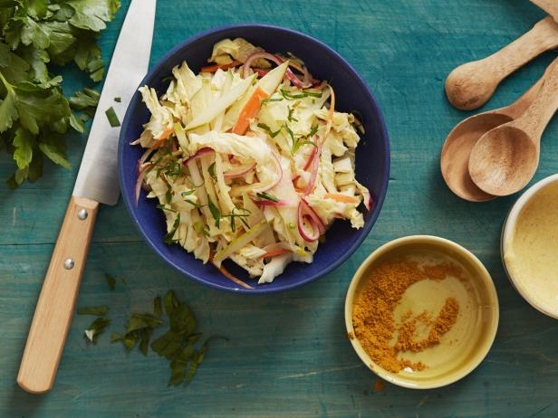 Creamy Curried Pear Slaw