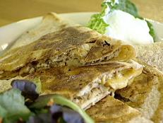 Cooking Channel serves up this Nathan's Chunky Chicken Quesadilla recipe  plus many other recipes at CookingChannelTV.com