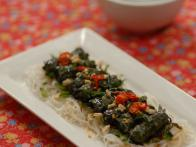 Beef and Lemon Grass Wrapped In Betel Leaf: Bo...