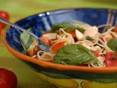 Cooking Channel serves up this Spaghetti Alla Caprese recipe from David Rocco plus many other recipes at CookingChannelTV.com