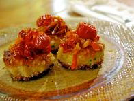 Brandade Cakes with Caramelized Peppers and Tomatoes