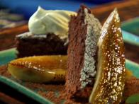 Caramelized Banana Brownie Dessert