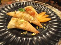 Camembert Feuilletee with Apricot Syrup and Pistachios