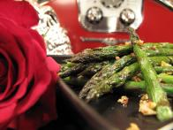 Spicy Sauteed Asparagus with Tamari and Toasted Garlic