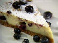 Baked Cheesecake with Blueberries