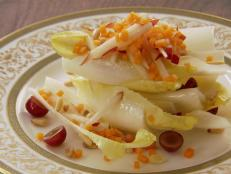 Cooking Channel serves up this Endive and Grape Salad with Pear Vinaigrette recipe from Chuck Hughes plus many other recipes at CookingChannelTV.com