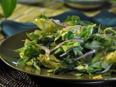 Cooking Channel serves up this Asparagus Salad with Lemon Vinaigrette recipe from Roger Mooking plus many other recipes at CookingChannelTV.com