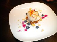 Goldrich Apricot Fig Torte with Coconut Caramel Ice Cream