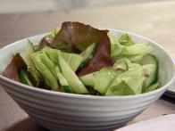 Simple Side Salad with Lemon-Honey Dressing