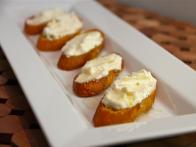 Three Cheese Crostini with Honey