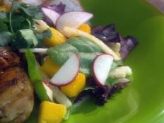 Cooking Channel serves up this Mango, Jicama and Radish Salad with Peanut Dressing recipe from Ingrid Hoffmann plus many other recipes at CookingChannelTV.com