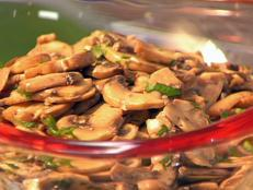 Cooking Channel serves up this Mushroom Salad in Garlic and Parsley Vinaigrette recipe  plus many other recipes at CookingChannelTV.com