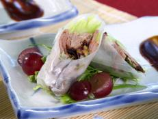 Cooking Channel serves up this Peking Duck Spring Rolls recipe from Ching-He Huang plus many other recipes at CookingChannelTV.com