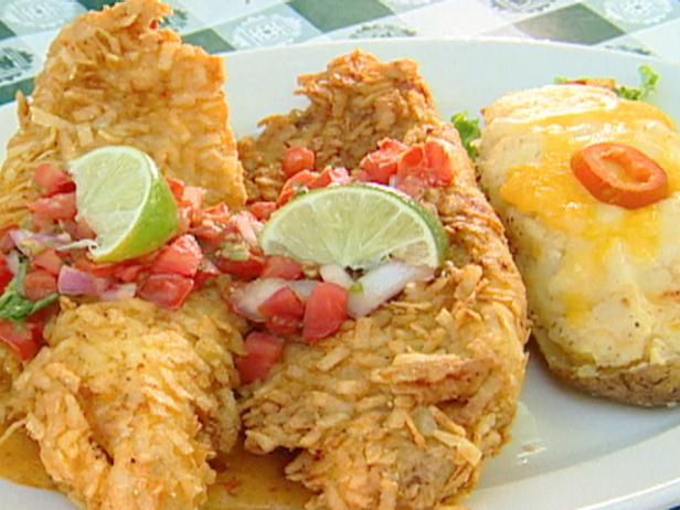 Tortilla Fried Queso Catfish