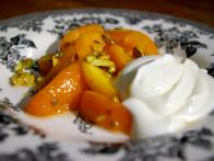 Apricot Salad with Orange Flower Water and Pistachios