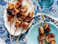 Balsamic Chicken and Fig Brochettes