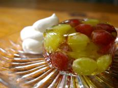 Cooking Channel serves up this Wine Jelly with Grapes recipe from Laura Calder plus many other recipes at CookingChannelTV.com