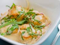 Scallops with Cream and Basil