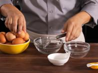 Break Egg into Egg Separator