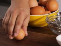 Crack Egg on Flat Surface Not On Edge of Bowl