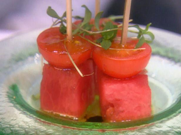 Watermelon-Tomato Skewer