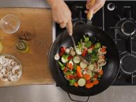 Stir Fry Denser Vegetables First