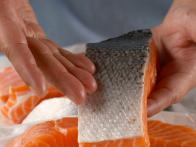 Grill Salmon with Skin Intact to Protect Flesh