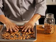 Spread Nuts in Single Layer on Baking Pan