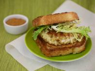 Crab Burgers with Frisee Salad