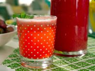 Raspberry Limeade with Lavender and Mint