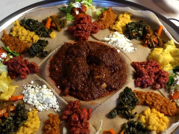 Injera fermented sourdough bread recipes cooking for Austin s caribbean cuisine