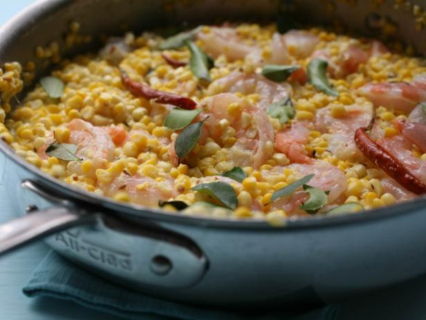 Curried Corn with Shrimp