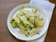 No Cook Summer Squash Salad with Lemon and Herbs