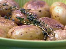 Cooking Channel serves up this Cracked Potatoes recipe from Amy  Finley plus many other recipes at CookingChannelTV.com