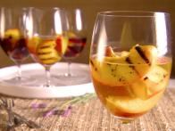Grilled Peaches in Wine