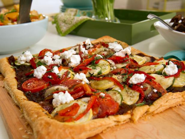 Ratatouille Tart with Caramelized Onion-Tomato Jam